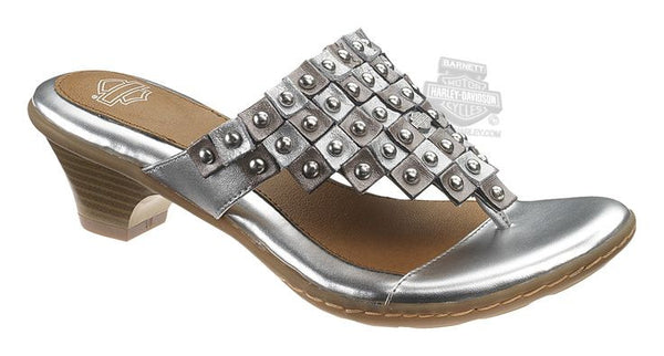 83597 Harley-Davidson® Womens Gretta Silver Leather Sandal
