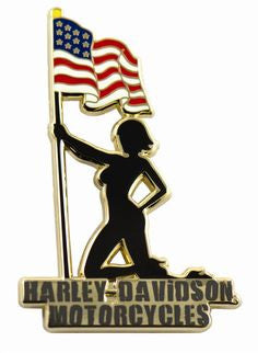 118521 H-D® Silhouette Girl Pin