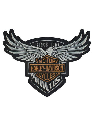 EM258234 Harley-Davidson® 115th Anniversary Eagle Emblem Patch Large 8 x 6 Limited Edition