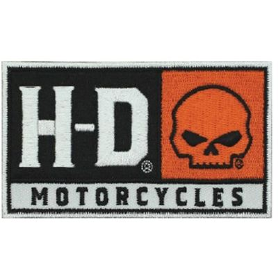 EM043662 H-D Embroidered H-D Skull Emblem Patch Small