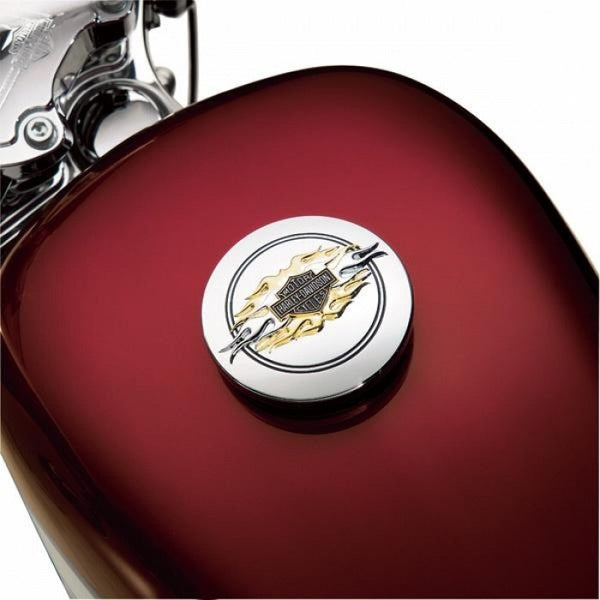 99686-98 HD Gas Cap Medallion,Flames