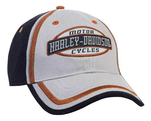 BCC51680 H-D Men's Embroidered H-D Script Colorblocked Baseball Cap