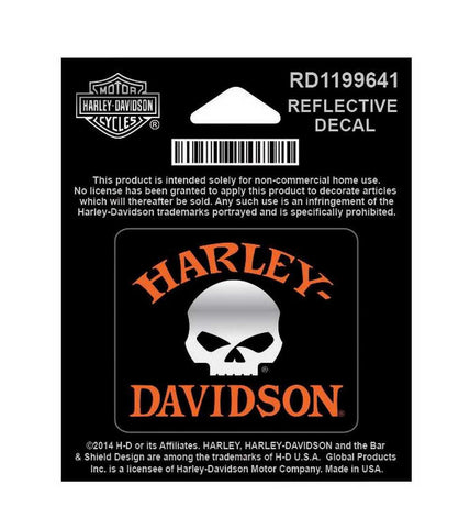 RD1199641 Harley-Davidson® Willie G Skull Reflective X-Small Decal