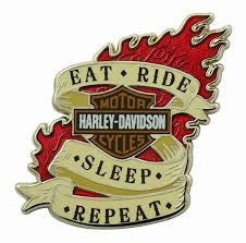 112507 H-D® Eat Ride Sleep Pin