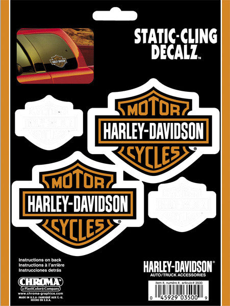 CG3500 Harley-Davidson® Static Cling™ B&S Decals