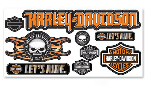 CG45001 Harley-Davidson® Decal Kitz™ 9 Piece Assorted Decals