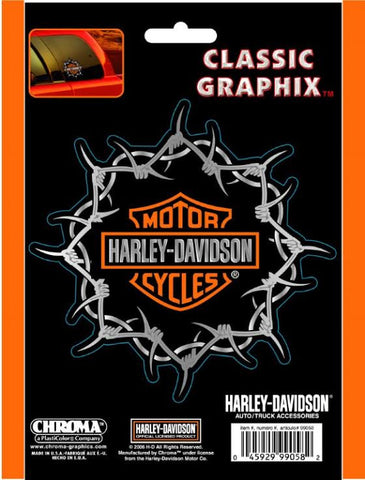 CG99058 Harley Davidson Barbwire Classic Decal