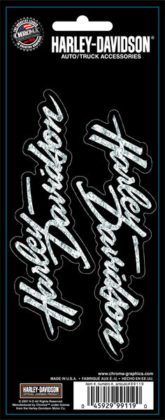 CG99119 Harley-Davidson® Script Two Piece Holographic Decal