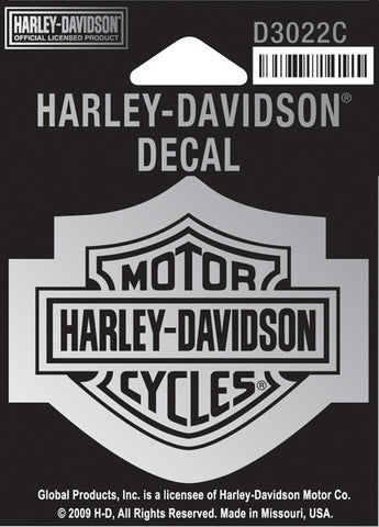 D3022C Harley-Davidson® Chrome B&S Small Decal