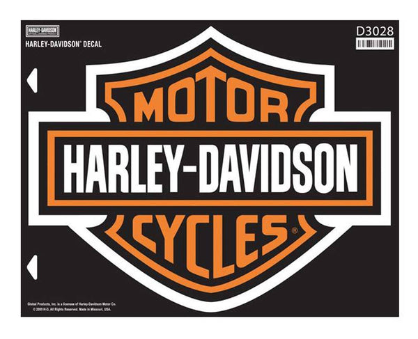 D3028ORG H-D Bar & Shield X-Large Decal, X-Large Size Sticker