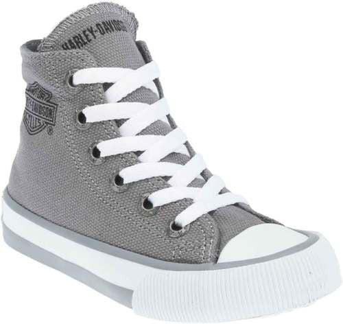 D61007 H-D Kid's Patch Grey Hi-Top Grey Athletic Sneakers