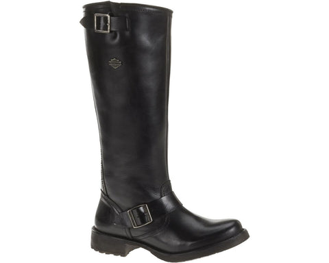 D83766 H-D® Women's Lifestyle Cadena 13.5-Inch Black Leather Boots