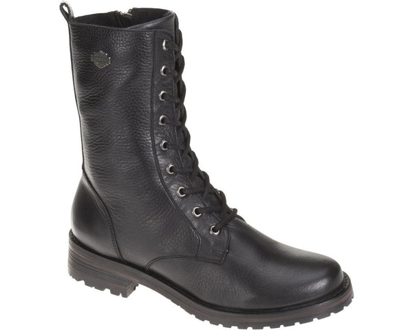 D83768 H-D® Women's Lifestyle Kenova 7.5-Inch Black Leather Boots