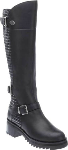 D83899  H-D® Women's Kedvale Knee-High Leather Motorcycle Boots