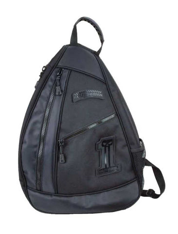 BP2067S-BLACK H-D Men's no.1 Skull Uno Sling Backpack