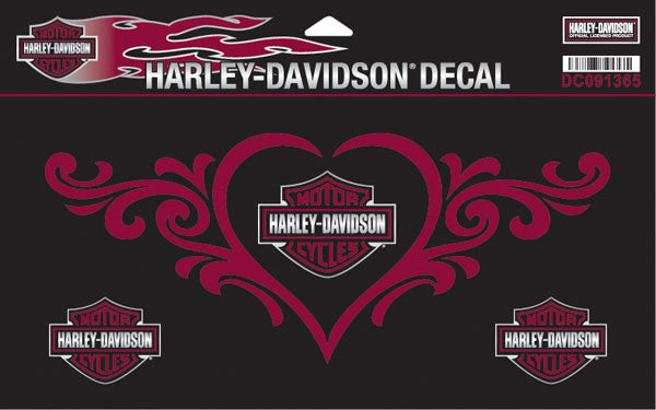 DC091365 - Harley-Davidson® Love Heart X-Large Decal