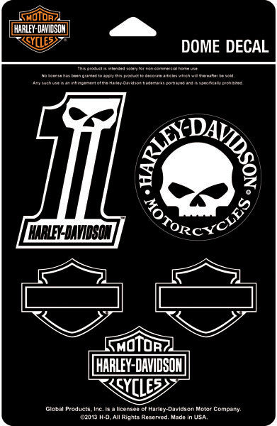 DC1246 H-D® Midnight Dome Decal Sheet