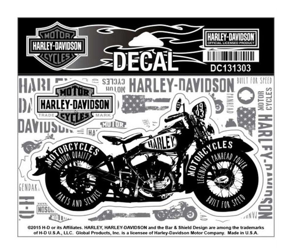 DC131303 Harley-Davidson Panhead Power Motorcycle Decal