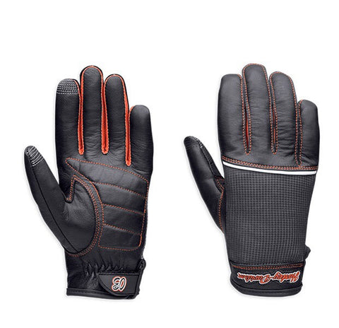 98295-14VW HD Women's Cora Leather & Mesh Full-Finger Gloves