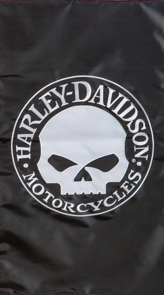 15FB4906 H-D Willie G Skull Fiber Optic House Polyester Flag