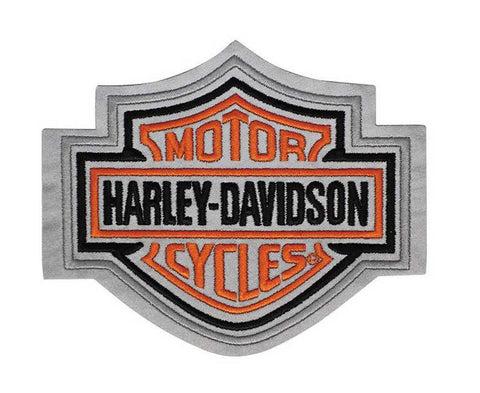 EMN302643 Harley-Davidson Reflective Emblem, Bar & Shield Logo, Medium Size