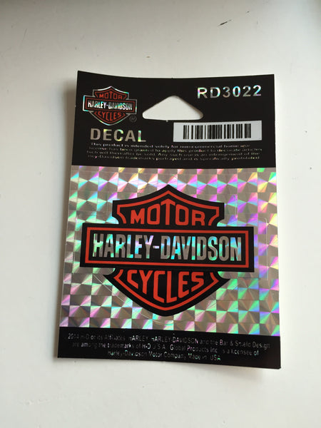 RD3022 Harley-Davidson® B&S Refractive Small Decal