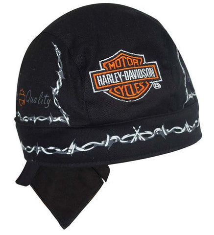 H520330 H-D Barb Wire Black Head Wrap