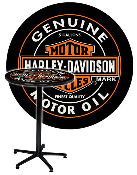 HDL-12316 - Harley-Davidson® H-D Oil Can Cafe Table