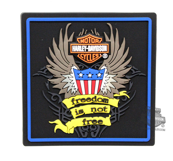 "SY-HDMT0004 Harley-Davidson® Freedom is Not Free Wings 2.5"" Mile-Tile™ Magnet"