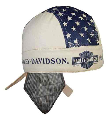 HW123256 H-D Men's Liberty Headwrap, Sweatband & Mesh, Khaki
