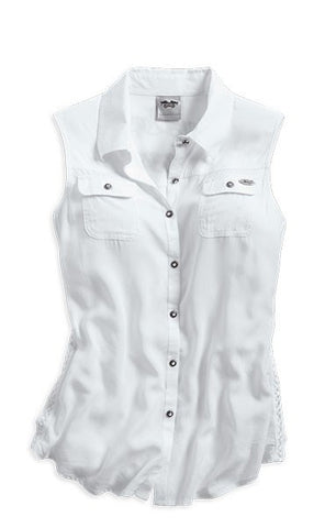 96185-14VW Harley-Davidson® Sleeveless Woven Shirt