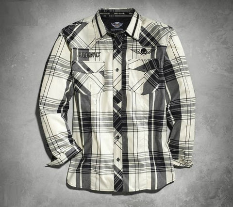 96420-15VM H-D® Gents Plaid LS Shirt