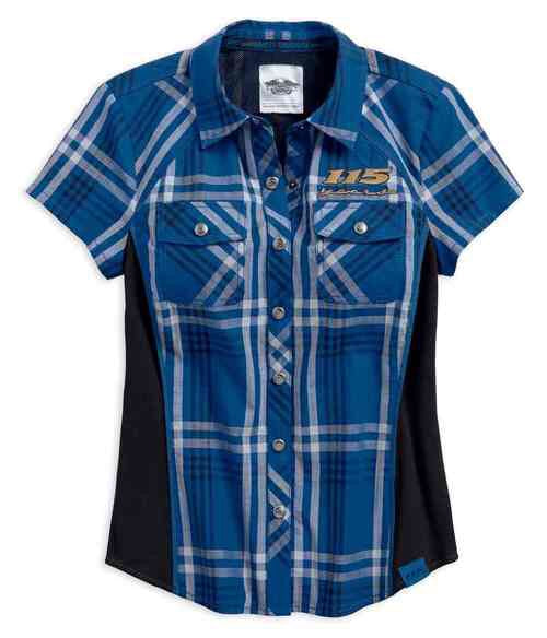 99046-18VW Harley-Davidson® Women's 115th Anniversary Limited Edition Plaid Shirt