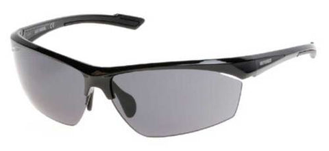 HD0646S H-D® Men's Semi Rimless Sunglasses, Shiny Black Frame & Smoke Lens
