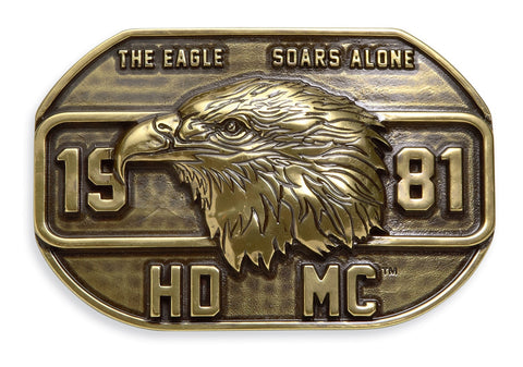 97776-17VM Harley-Davidson® Mens 1981 Vintage Eagle Brass Finish Buckle