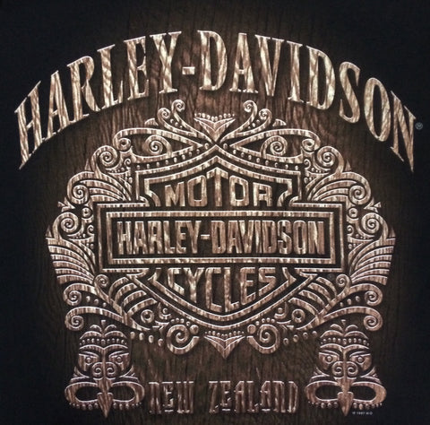AC63643 H-D T-Shirt Carving Black