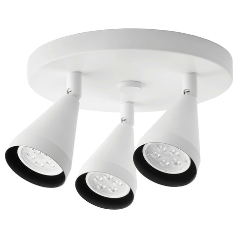NAVLINGE Ceiling spotlight with 3 spots, white. 00404893