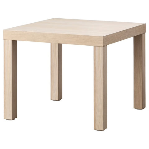 LACK Side table, white stained oak effect, 55x55 cm. 70431534