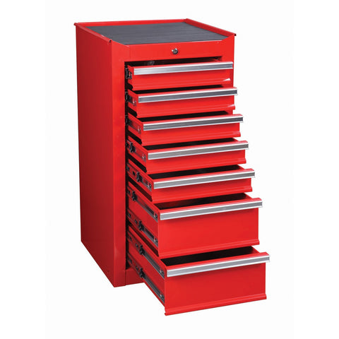 18 in. 7 Drawer Glossy Red End Cabinet For Roller Tool Chest - 68785