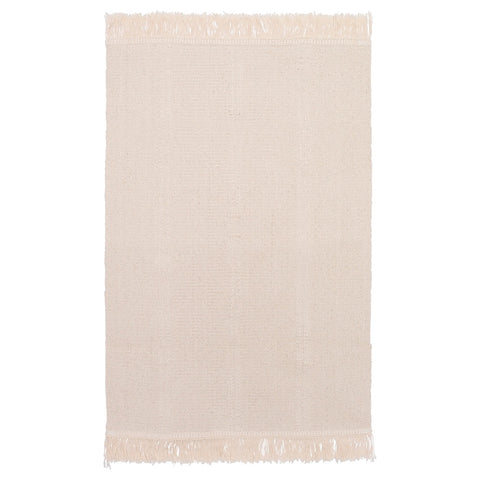 50418519 SORTSO Rug, flatwoven, unbleached, 55x85 cm