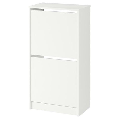 BISSA Shoe cabinet with 2 compartments, white, 49x93 cm. 30242738