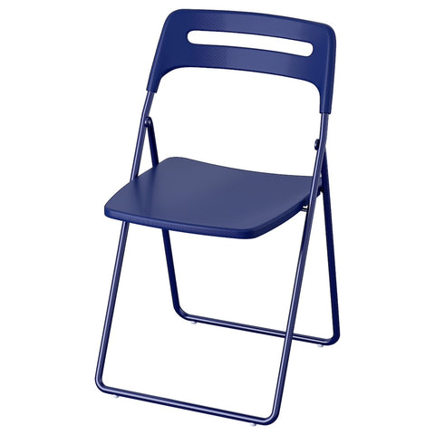 NISSE Folding chair, dark blue-lilac. 70412427
