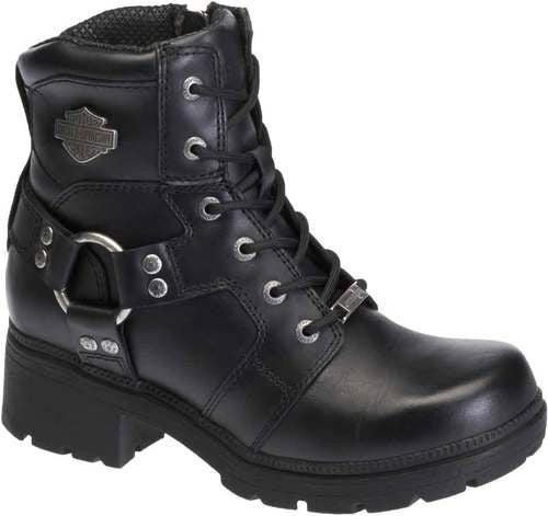 D83775 H-D® Women's Jocelyn 5.5-In Black Leather Motorcycle Boots.