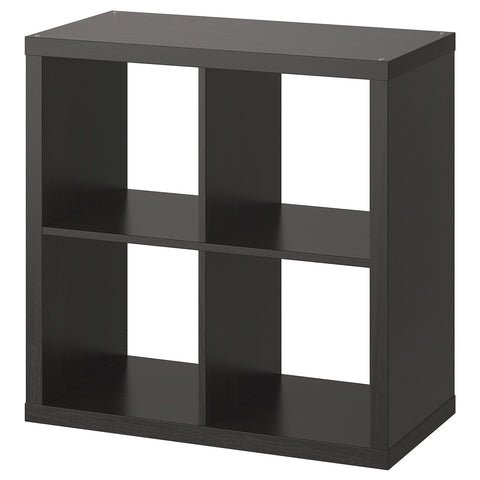 KALLAX Shelving unit, black-brown, 77x77 cm. 50351892