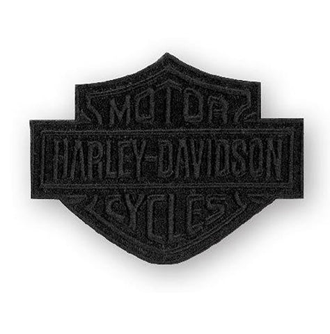 EM302302 Harley-Davidson® Black Bar & Shield Emblem Patch, SM 4 x 3.125 inch