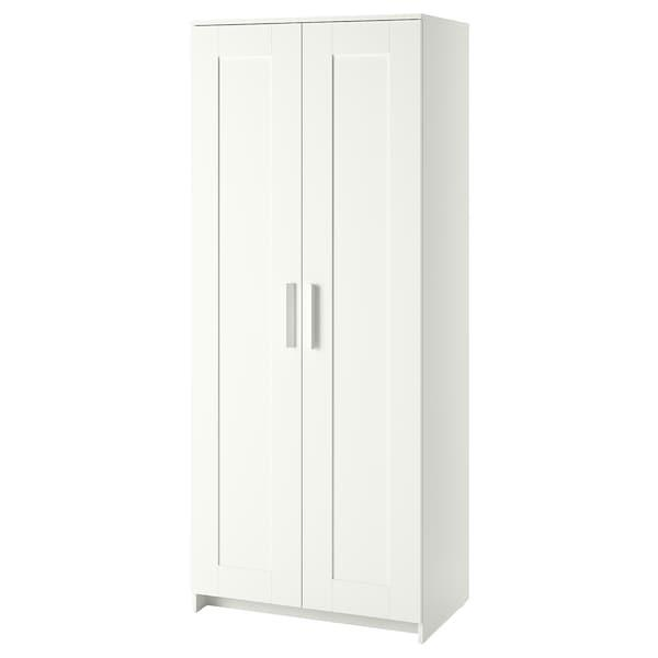 "BRIMNES Wardrobe with 2 doors, white, 78x190 cm (30 3/4x74 3/4 ""). 60358398"