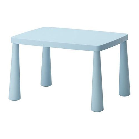 MAMMUT Children's table, in/outdoor light blue light blue, 77x55 cm. 60267567
