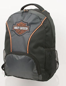 7180609 Harley-Davidson Embroidered Bar & Shield Colorblocked Backpack, Black