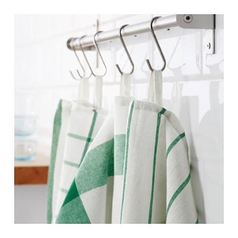 ELLY Tea towel, white, green / 4 pieces. 20277766