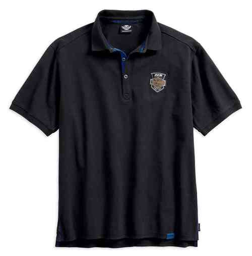 99015-18VM H-D Men's 115th Anniversary Polo w/ Coldblack Technology